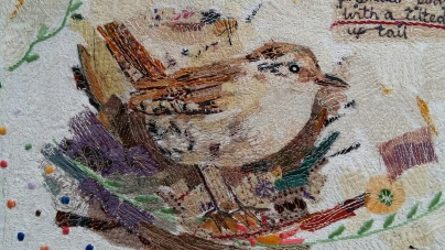 Fabric collage and stitch
