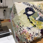free machine embroidery with mixed media