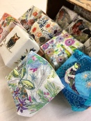 Small Boxes With Free Machine Embroidery And Fabric Collage
