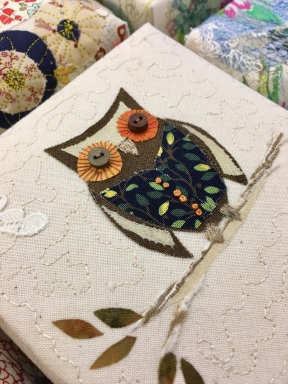 Fabric collage and free machine embroidery