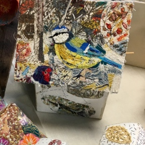 Mixed media bird box